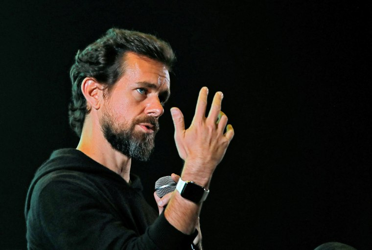 Image: Twitter CEO Jack Dorsey addresses students during a town hall at the Indian Institute of Technology (IIT) in New Delhi
