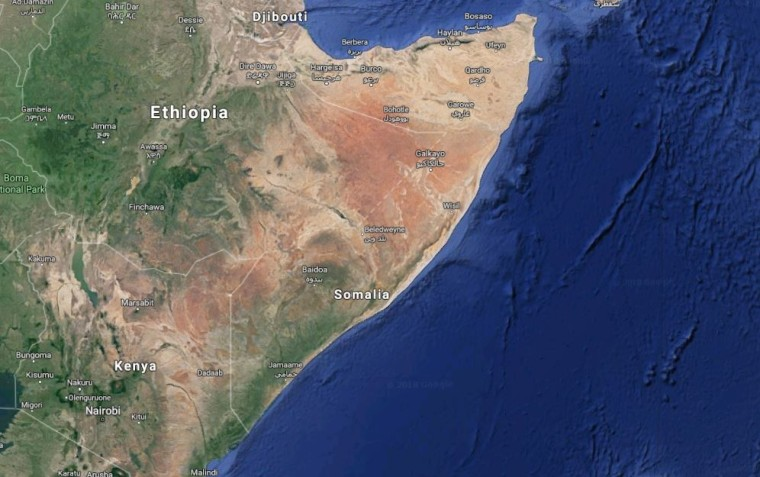 Image: Map shows location of Somalia