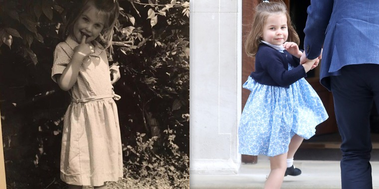 Princess Charlotte and another look-alike