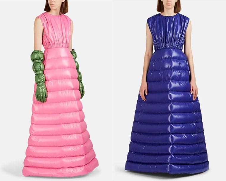 2d92a4155 Moncler sells puffer coat evening gowns now