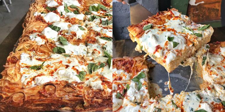 Spaghetti Pie Pizza