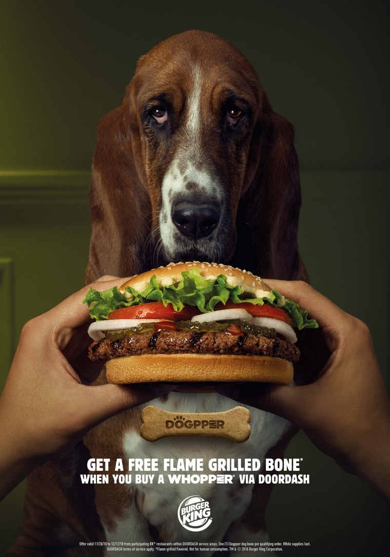 Burger King launches first ever whopper for dogs