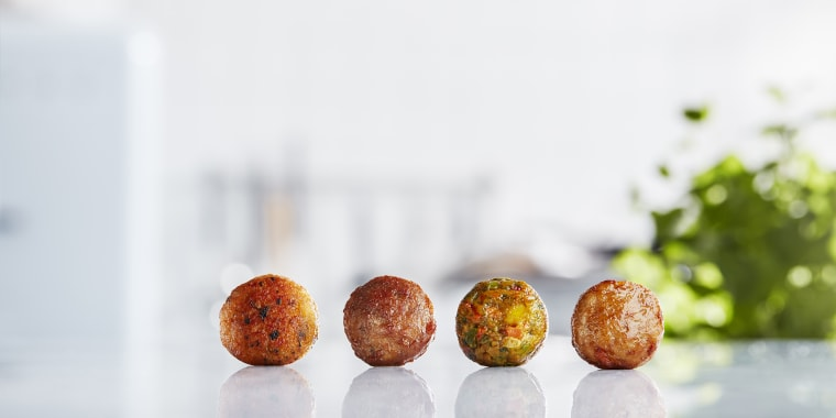 Ikea now serves four different types of meatballs: traditional Swedish-style meatballs made with beef and pork, salmon balls, veggie balls and chicken balls.
