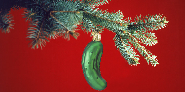 Christmas ornament - What Is The Christmas Pickle Tradition And Where Does It Come From?