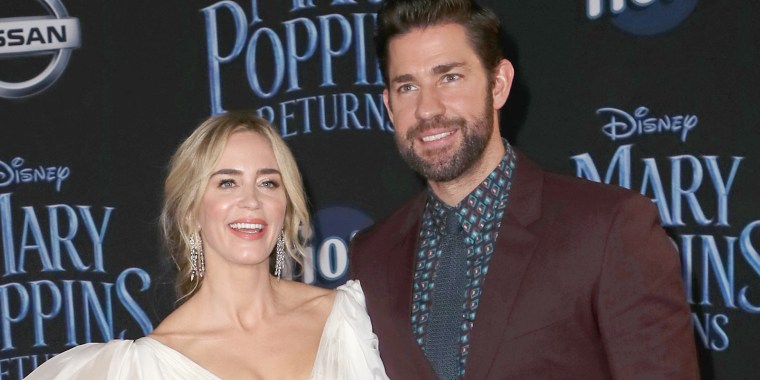 Emily Blunt and John Krasinski are couples goals at Mary Poppins premiere