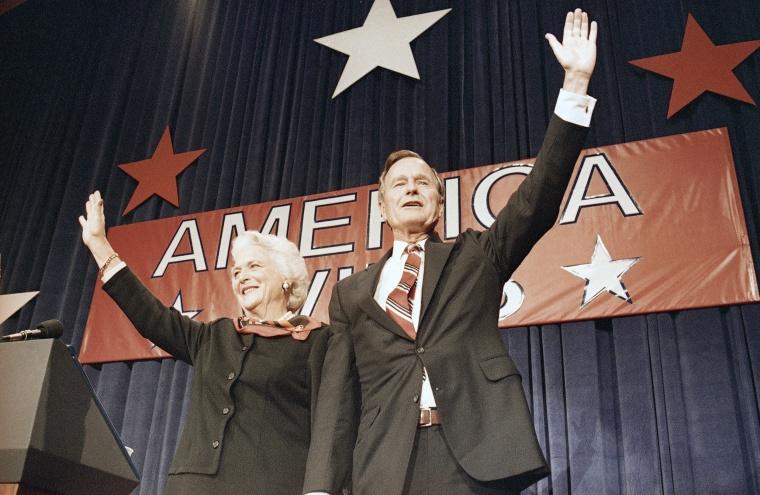 Image: Bush Victory Celebration Rally