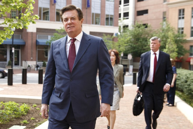Former Trump campaign manager Paul Manafort attends a motion hearing at the US District Court in Alexandria, Virginia.