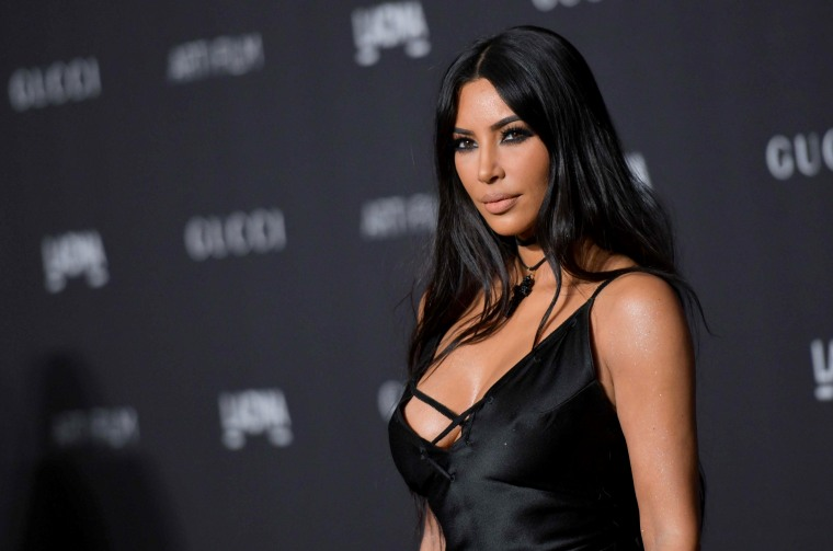 Kim Kardashian arrives for the 2018 LACMA Art+Film Gala in Los Angeles on Nov. 3, 2018.