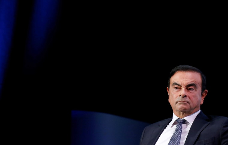 Carlos Ghosn at the Paris Auto Show in Paris on Oct. 1, 2018.