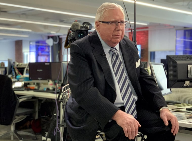 Jerome Corsi during an interview at NBC News in New York on November 27, 2018.