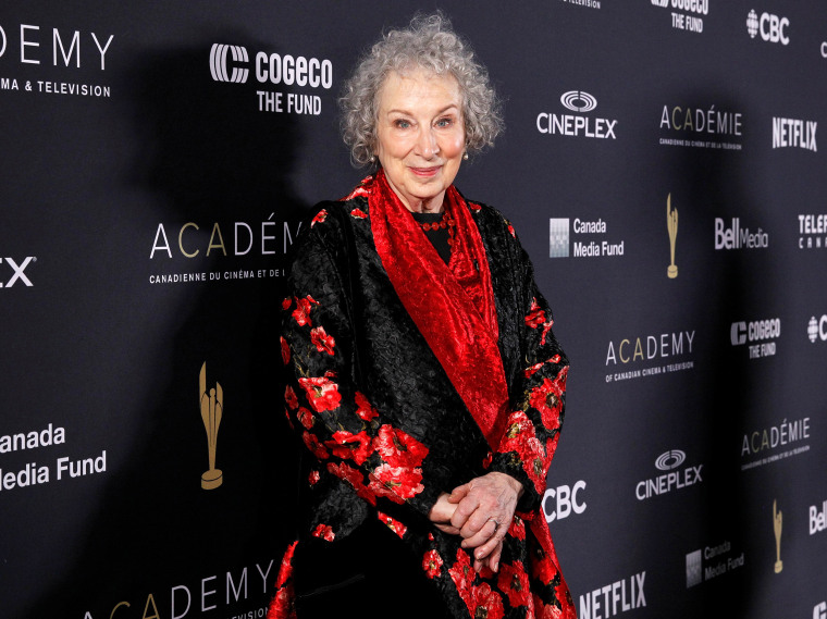 Image: Author Margaret Atwood poses during the Canadian Screen Awards in Toronto