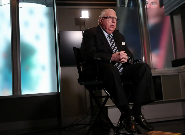 Jerome Corsi speaks during an interview in New York
