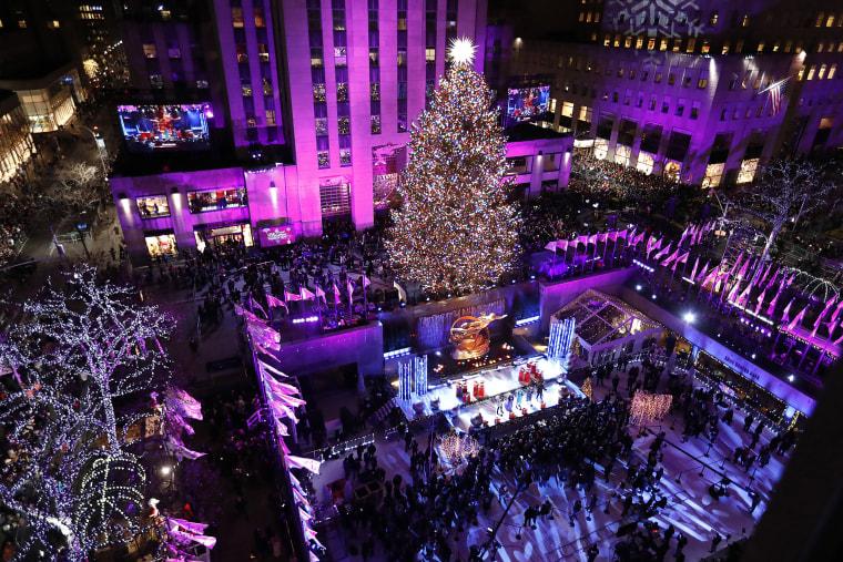 Image: 86th Annual Rockefeller Center Christmas Tree Lighting Ceremony