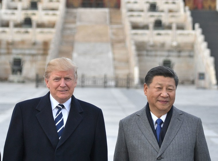 Image: President Donald Trump and Chinese President Xi Jinping at the Forbidden City in Beijing