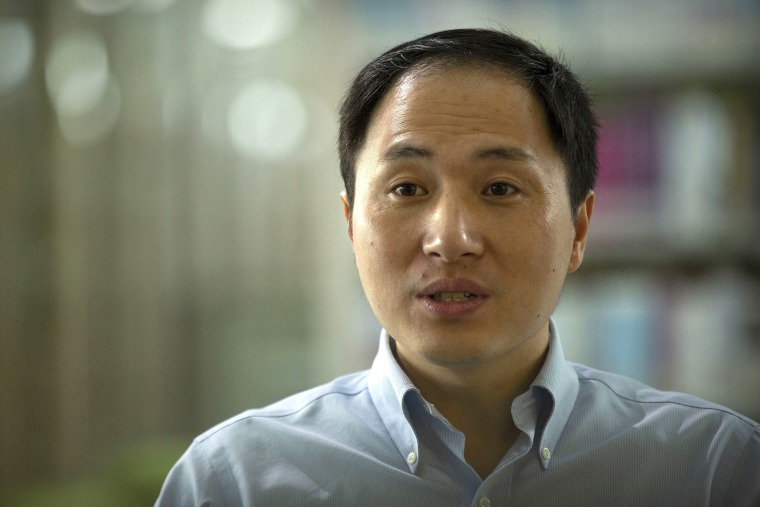 Image: Scientist He Jiankui speaks during an interview in Shenzhen