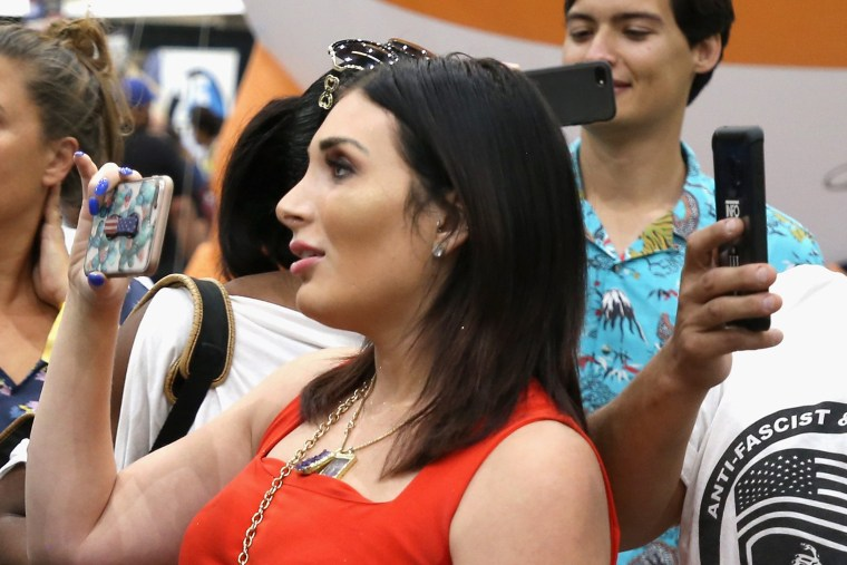 Laura Loomer at Politicon  in Los Angeles on Oct. 20, 2018.