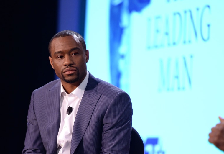 Marc Lamont Hill attends a panel discussion during the American Black Film Festival in New York in 2014.