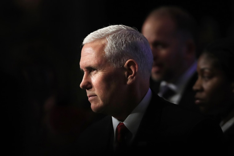 Vice President Mike Pence at the Capital Hilton in Washington on Nov. 26, 2018.