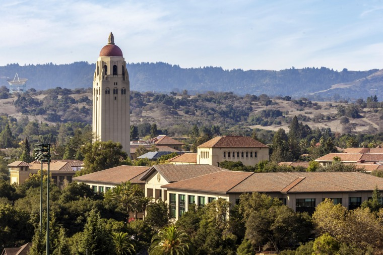 The Hoover Tower on the Stanford University campus in Palo Alto, California, in 2016.