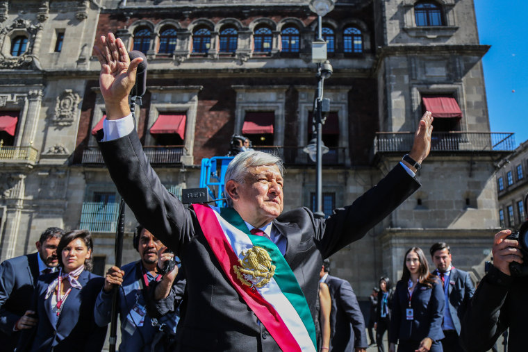 Image: Investiture of Mexican President-elect Andres Manuel Lopez Obrador in Mexico City