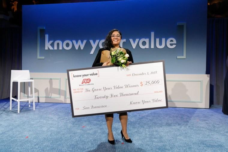 Danielle Oceguera, 25, won Mika Brzezinski's Grow Your Value contest on Saturday night.