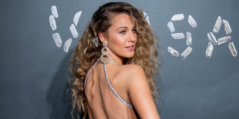 Blake Lively rocked an '80s-inspired hairstyle on the red carpet.