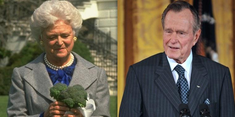 George HW Bush hating broccoli