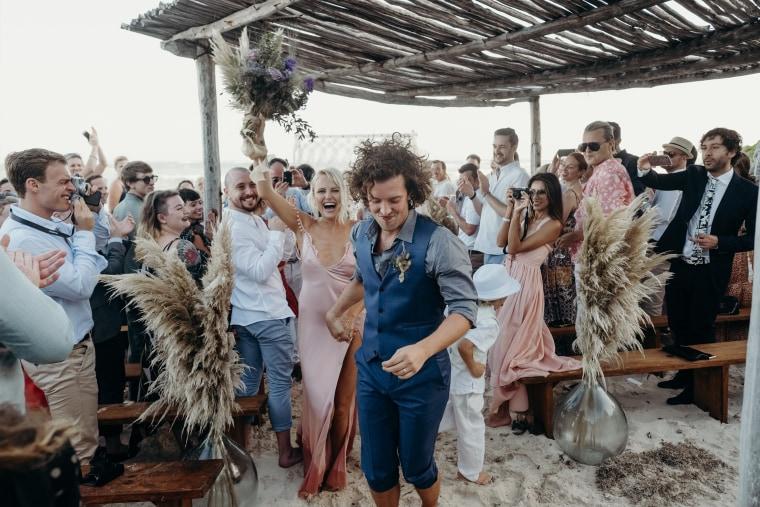 Malin Akerman and Jack Donnelly wedding, Malin Ackerman blush wedding dress