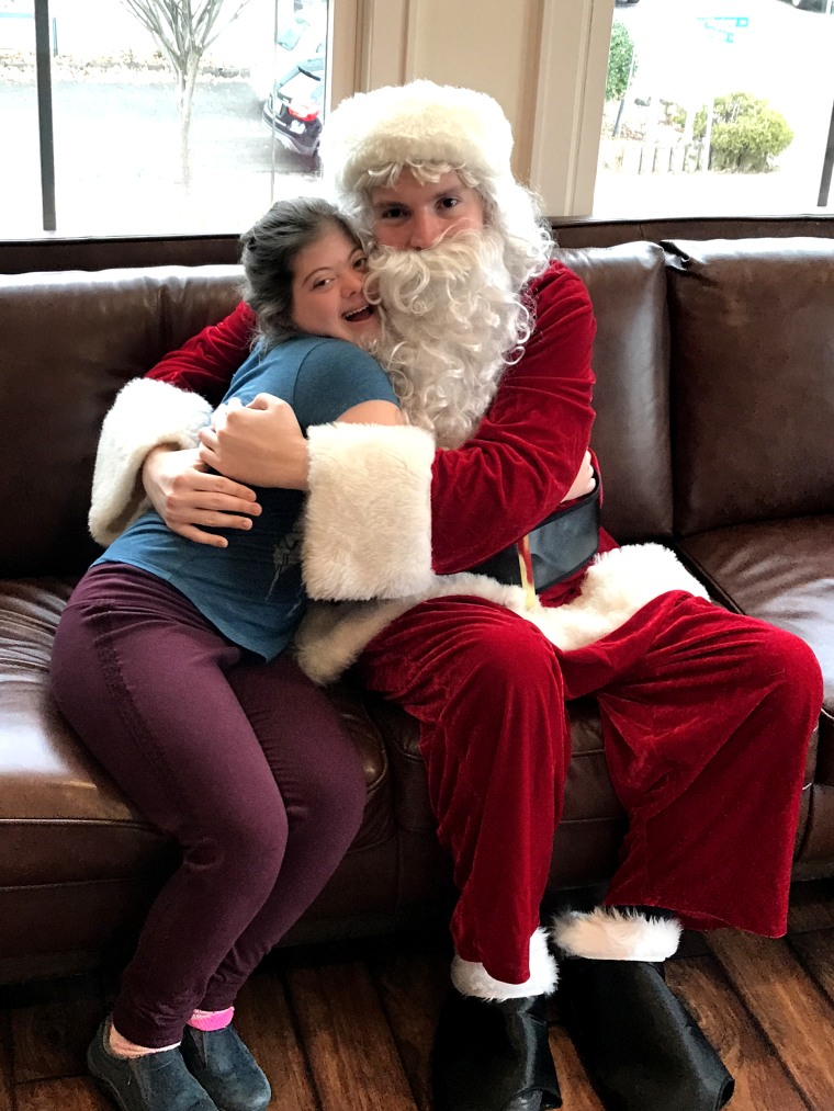 Santa Kerry Magro, who has autism, every year plays Santa for children who are on the autism spectrum as well.