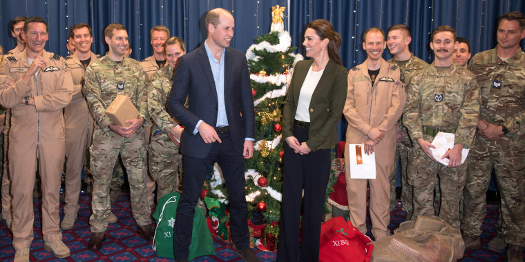 Prince William teased the Duchess of Cambridge about her olive blazer.