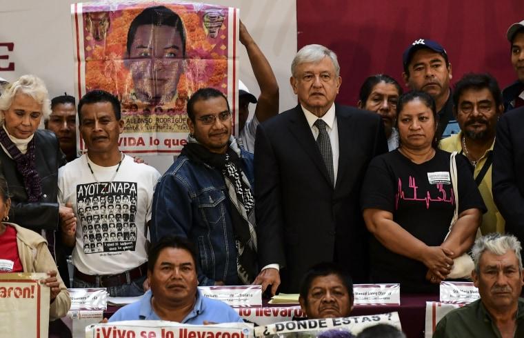Image: MEXICO-CRIME-VIOLENCE-STUDENTS-MISSING-LOPEZ OBRADOR-DECREE