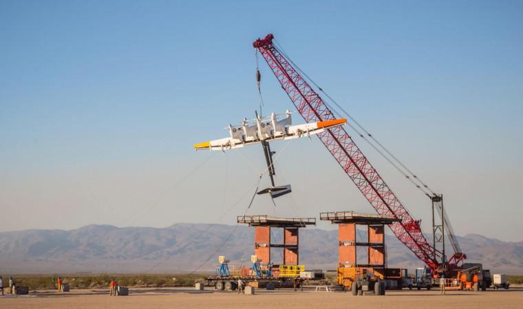 A prototype of the Makani energy kite.