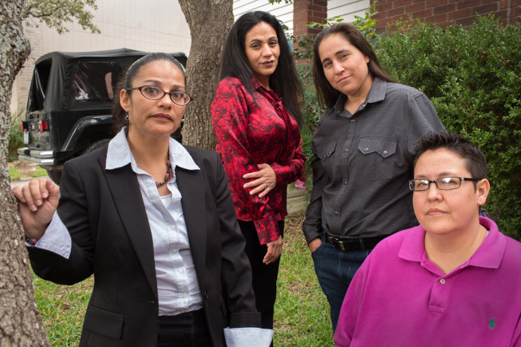 Image: The San Antonio Four, from left, Elizabeth Ramirez, Cassandra Rivera, Anna Vasquez and Kristie Mayhugh on Nov. 19, 2013.