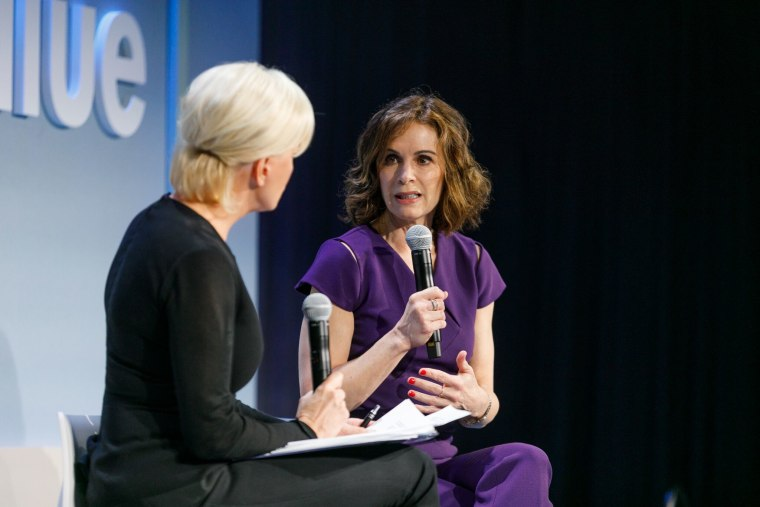 Emmy Award-winning journalist Elizabeth Vargas speaks to Mika Brzezinski about alcohol addiction at the Know Your Value conference in San Francisco on Dec. 1.