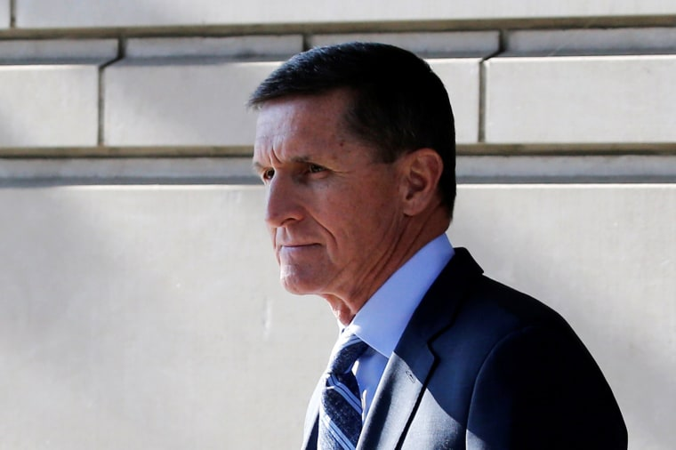 Image: Former National Security Adviser Michael Flynn departs U.S. District Court, in Washington, U.S