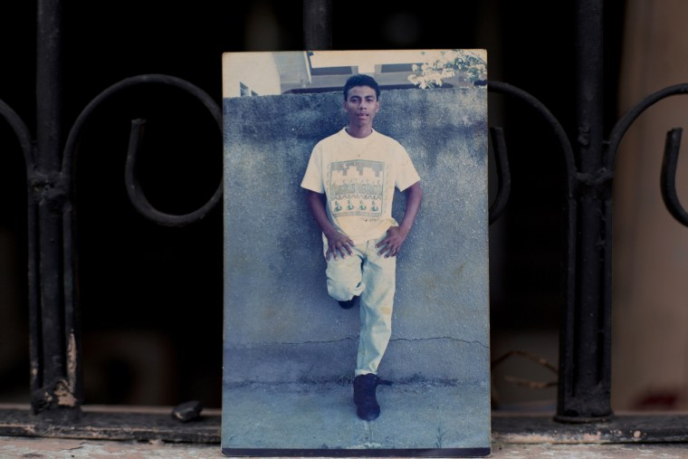 Image: Wilmer Gerardo Nunez in an undated family photo at his mothers home in Ciudad Planeta, Honduras.