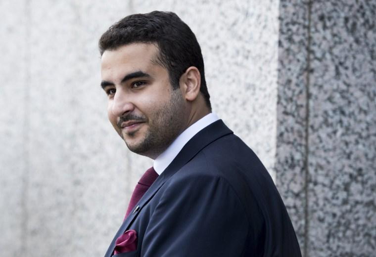 Image: Khalid bin Salman leaves the Hart Senate Office Building in Washington on July 24, 2017.