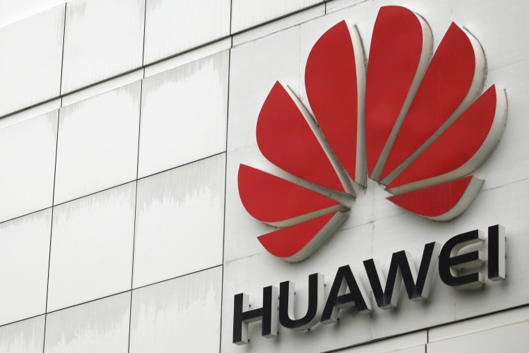 Image: The logo of the Huawei Technologies Co. Ltd. is seen outside its headquarters in Shenzhen, Guangdong province