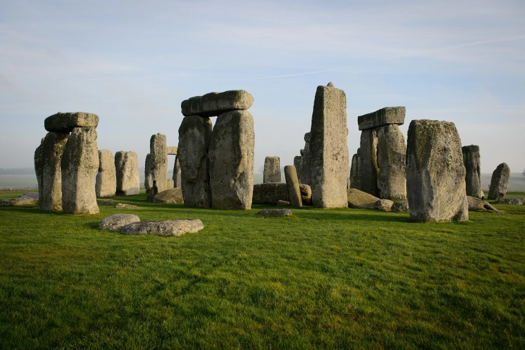 Image: The prehistoric monument of Stonehenge, a world heritage site, near Amesbury in south west England