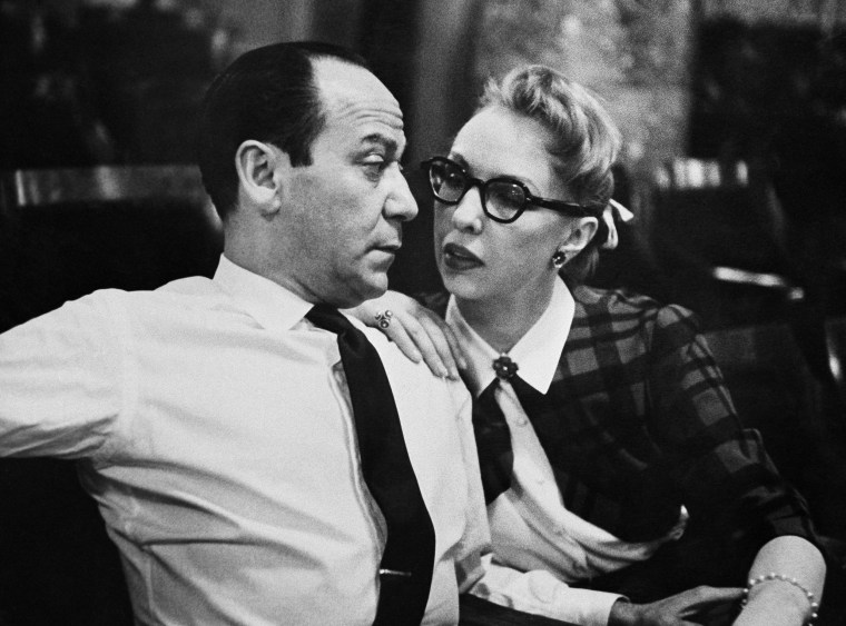 Broadway composer Frank Loesser and his wife and musical partner Lynn Garland in 1956 in New York.