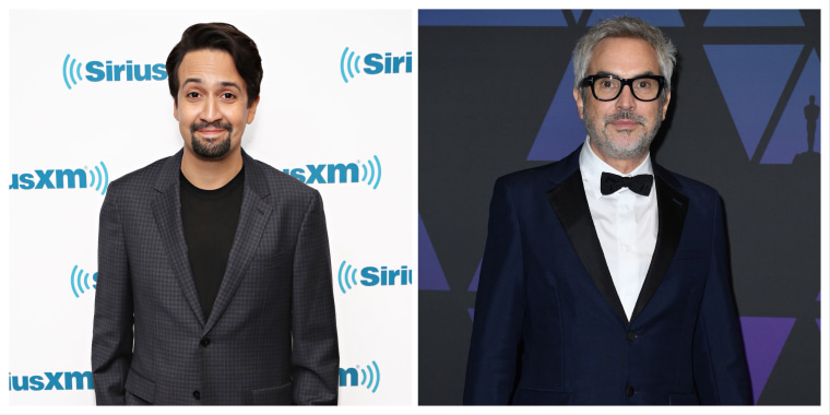 Lin Manuel Miranda (left) and Alfonso Cuaron (right).