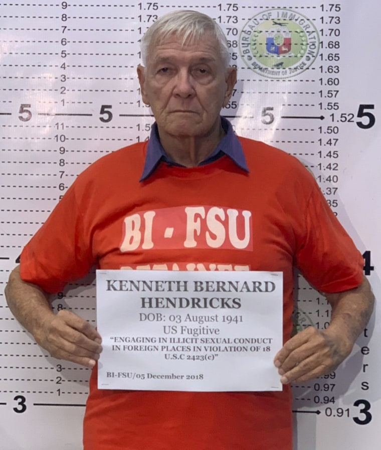 Image: Rev. Kenneth Bernard Hendricks was arrested in the Philippines on Dec. 5, 2018. Hendricks is accused of sexually assaulting altar boys.