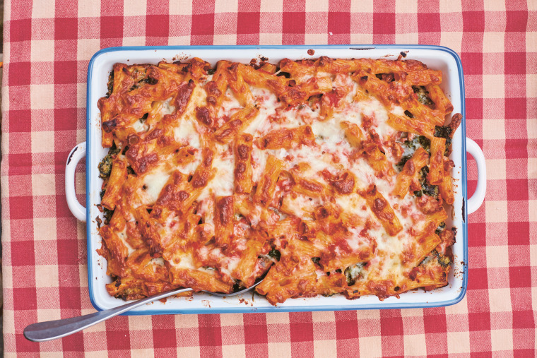Julia Turshen's Italian Flag Baked Pasta from Now and Again.