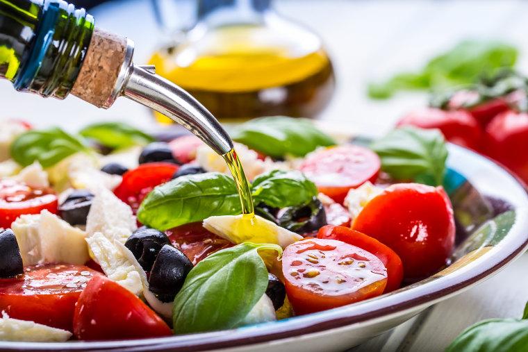Image: Caprese. Caprese salad. Italian salad. Mediterranean salad. Italian cuisine.