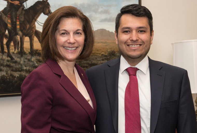 Image: Reynaldo Benitez was named chief of staff by Sen. Catherine Cortez Masto, D-Nev. On Dec. 7, 2018.