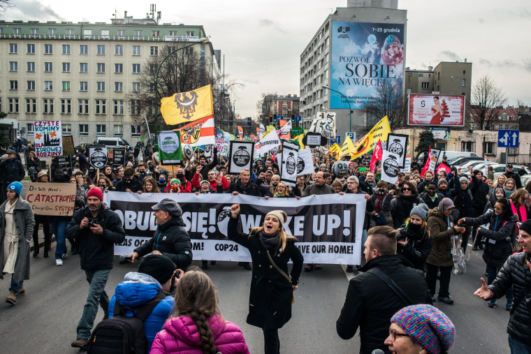 Image: Protesters March In Katowice Amid Climate Summit