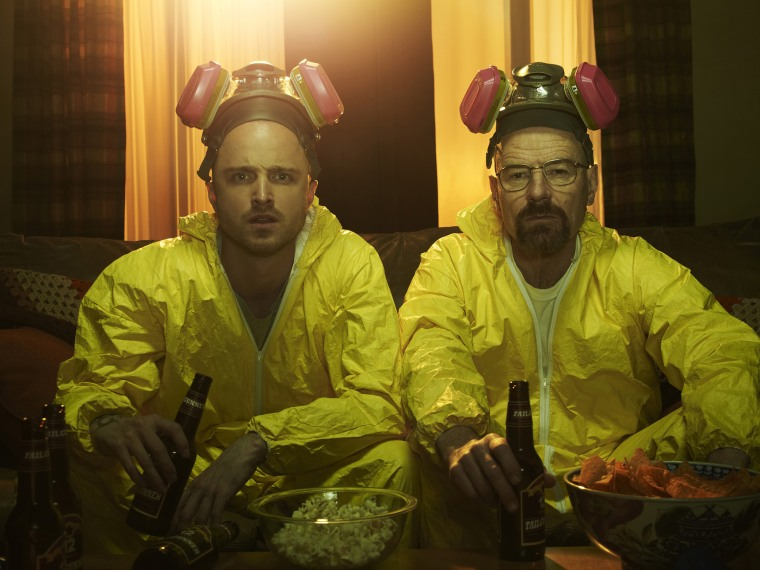 Image: Jesse Pinkman (Aaron Paul) and Walter White (Bryan Cranston) in Breaking Bad.