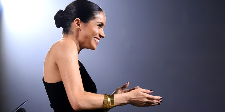 The former Meghan Markle's dark manicure broke unofficial royal protocol.