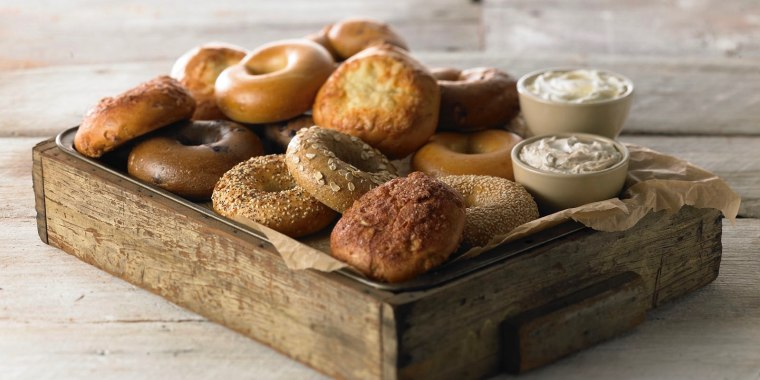Snag a free bagel at Panera until 2019. But don't let the pictured cream cheese fool you ... you'll have to fork over a few cents for that part.