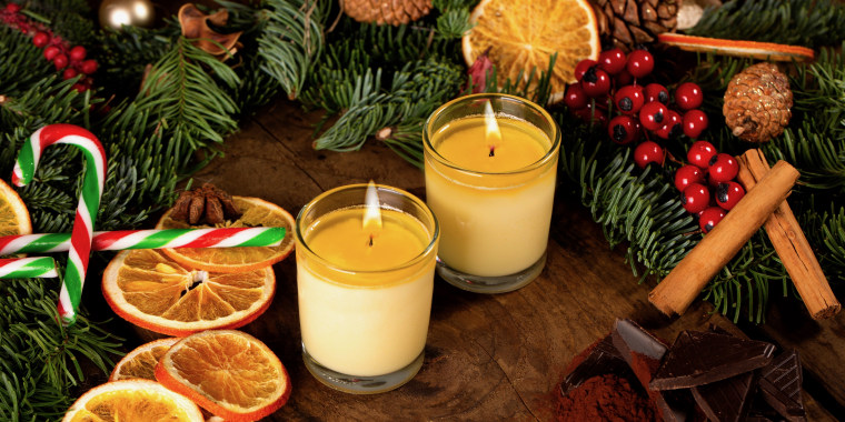 Smith & Sinclair, a UK-based candy company that ships internationally, makes edible candles to spice up hot holiday drinks.